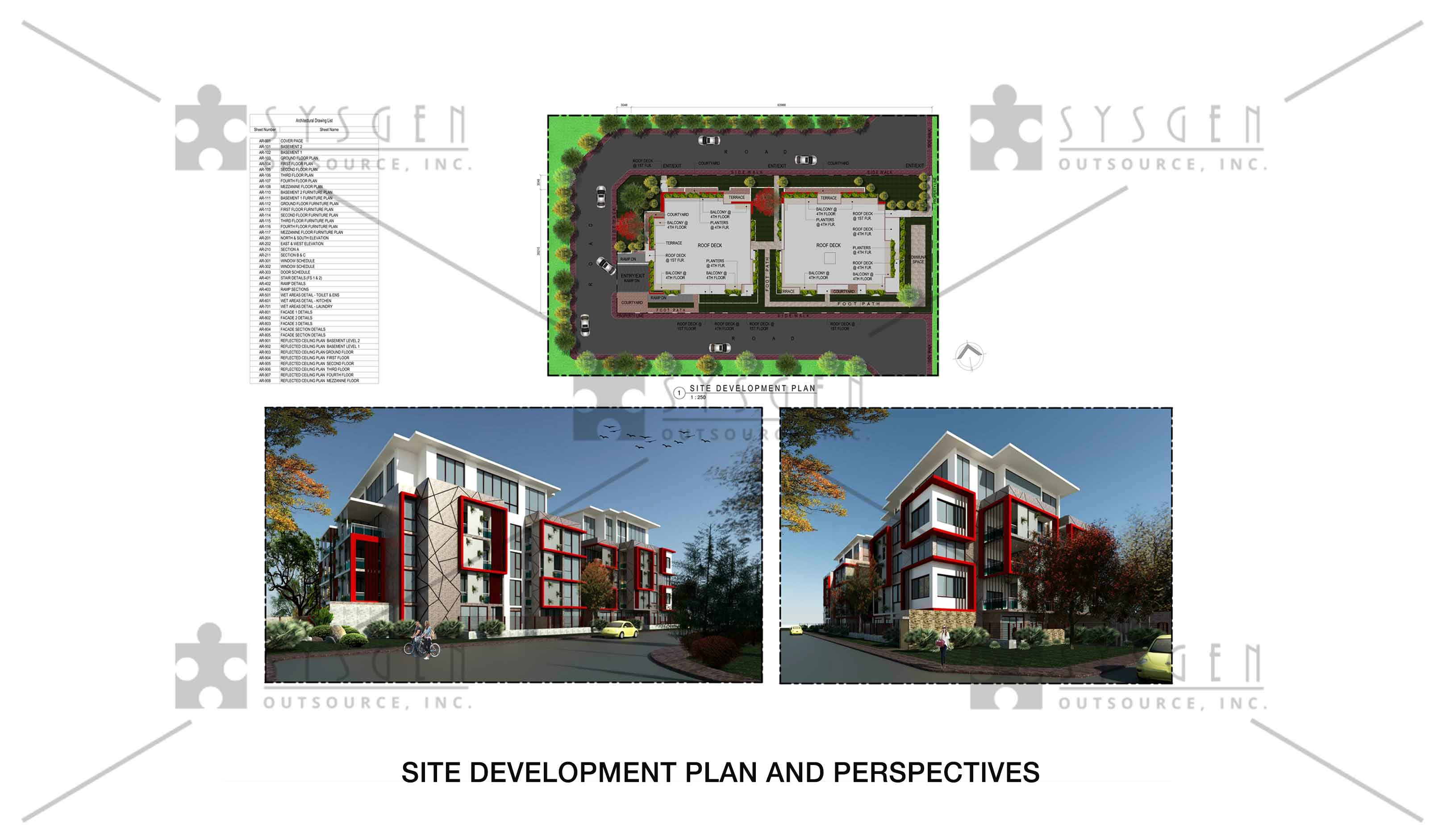 sysgen-outsource-cad-outsourcing-services-cad-conversions-revit-4-storey-residentialss